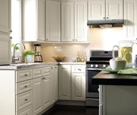 Off White Painted Kitchen Cabinets In French Vanilla Painted