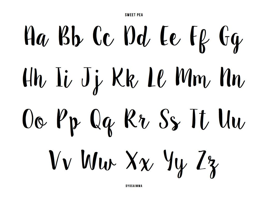 Английский алфавит красивым шрифтом фото