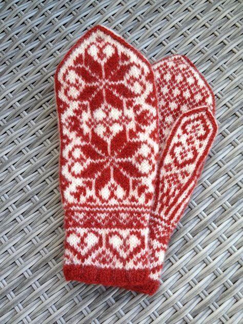 Handknitted norwegian mittens | Tejido