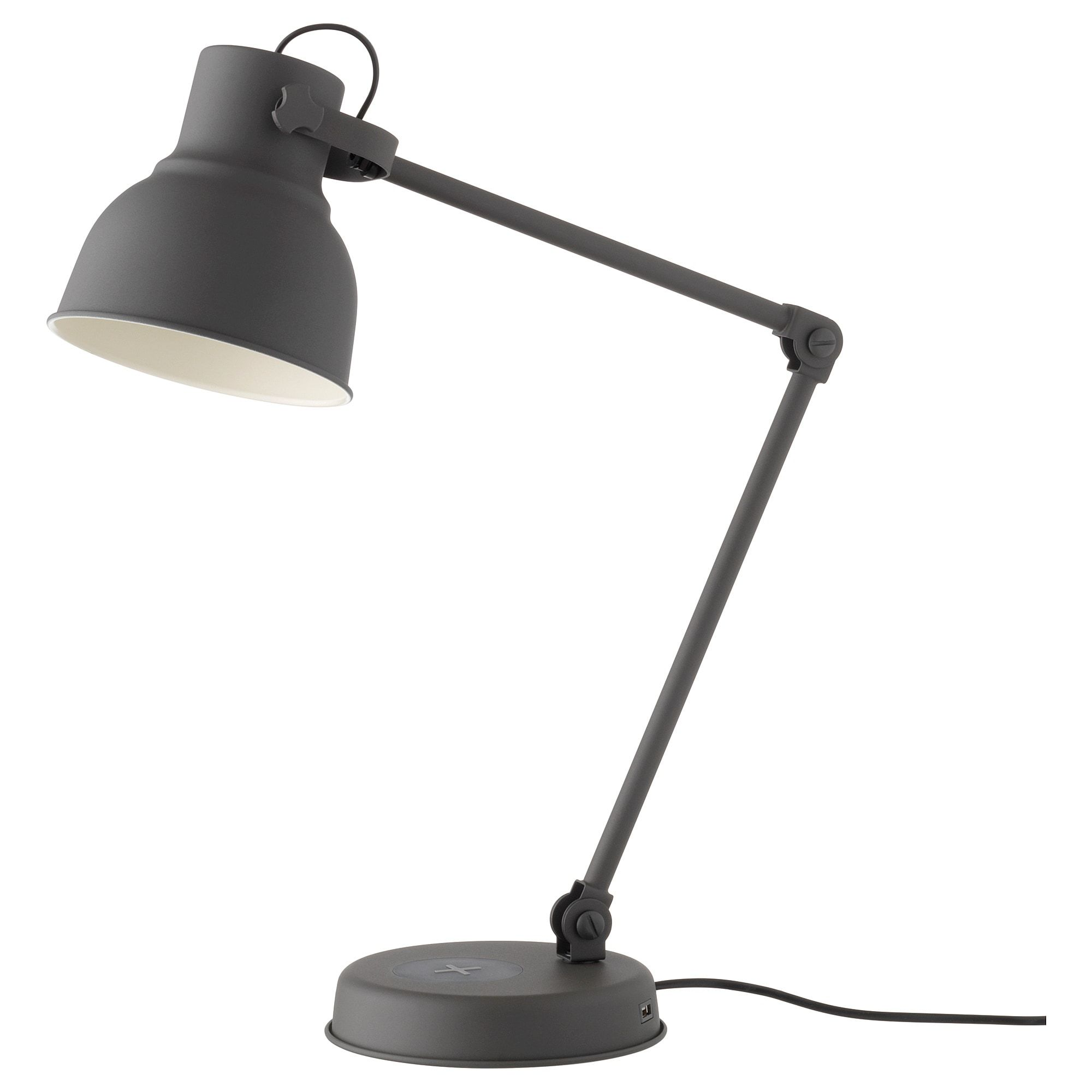 Hektar Work Lamp With Wireless Charging Dark Gray