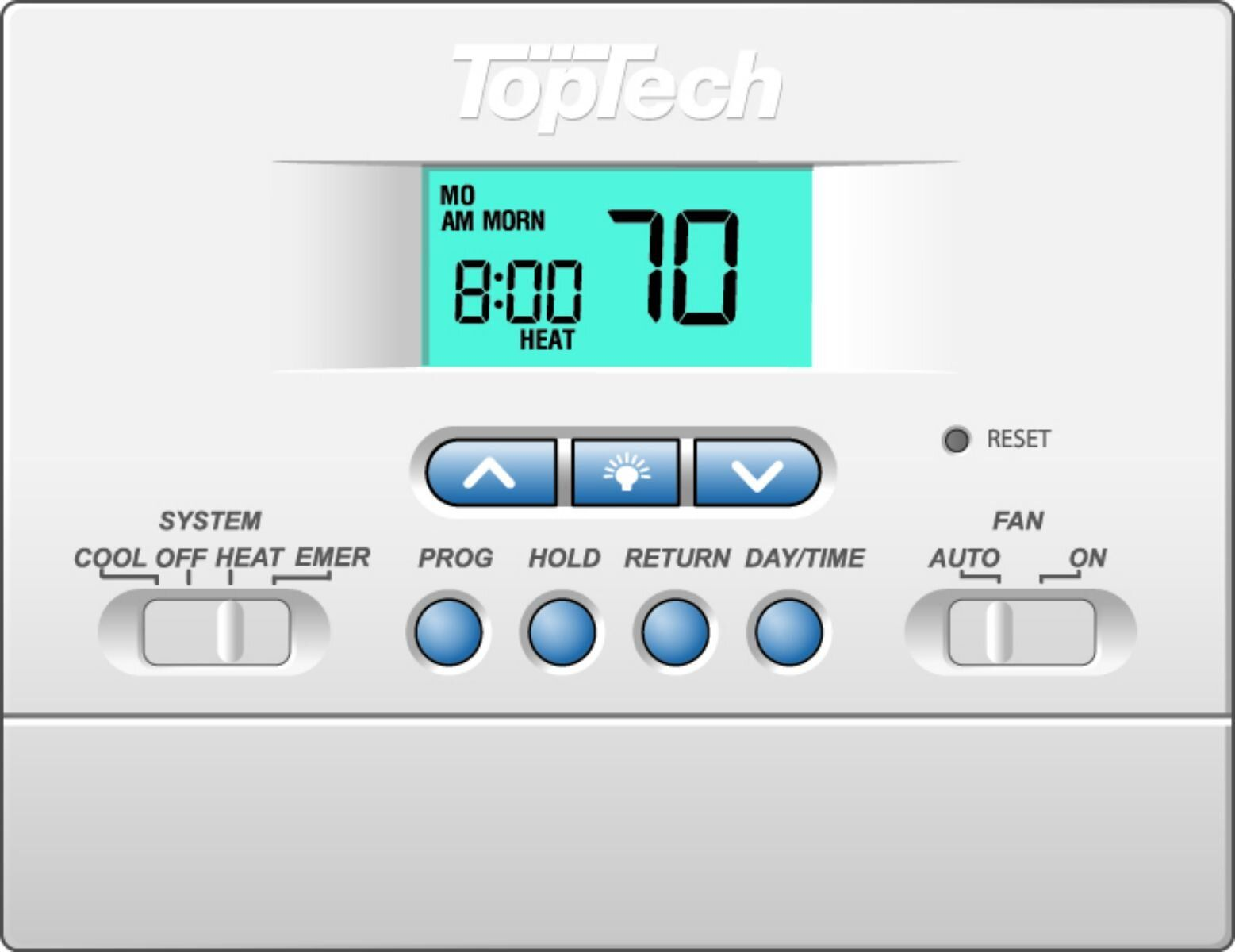 Toptech Tt P 421 5 2 Day Programmable Thermostat 2 Heat 1 Cool Diy Parts In 2020 Programmable Thermostat Thermostat Cool Stuff