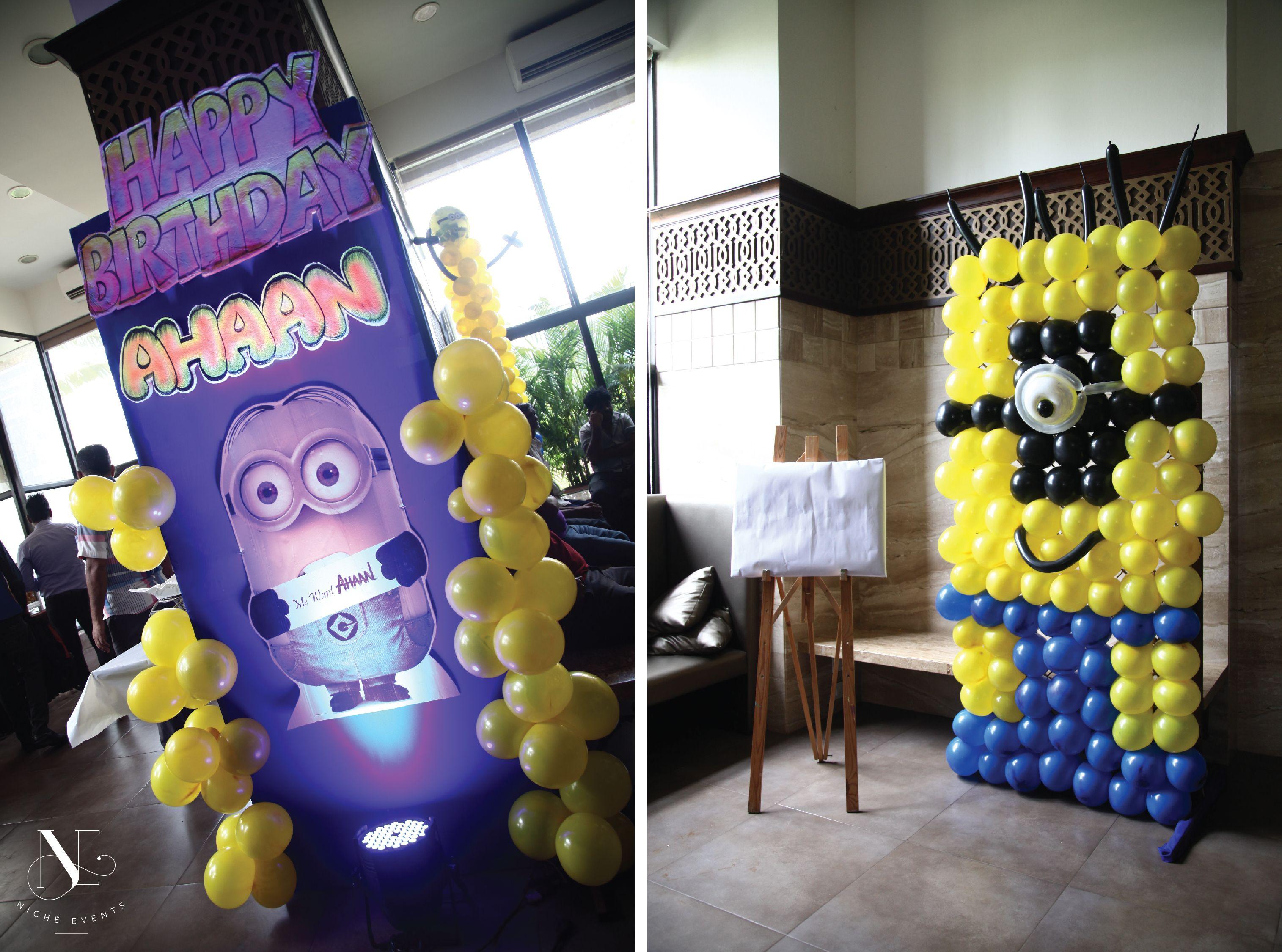 Minion Themed Balloon Decor by Niche Events