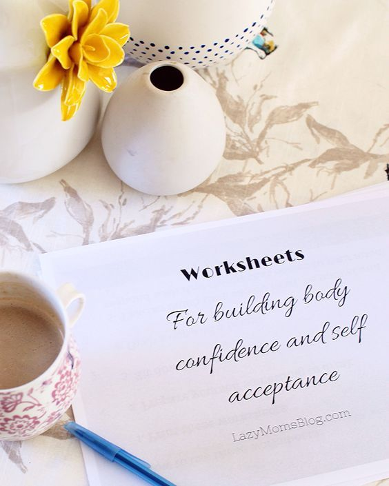 Free worksheets for building body confidence and self acceptance ...