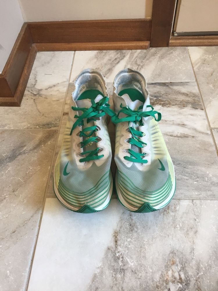 Nike Zoom Fly Sp Hong Kong White Lucid Green Yellow Mens Size 11 5