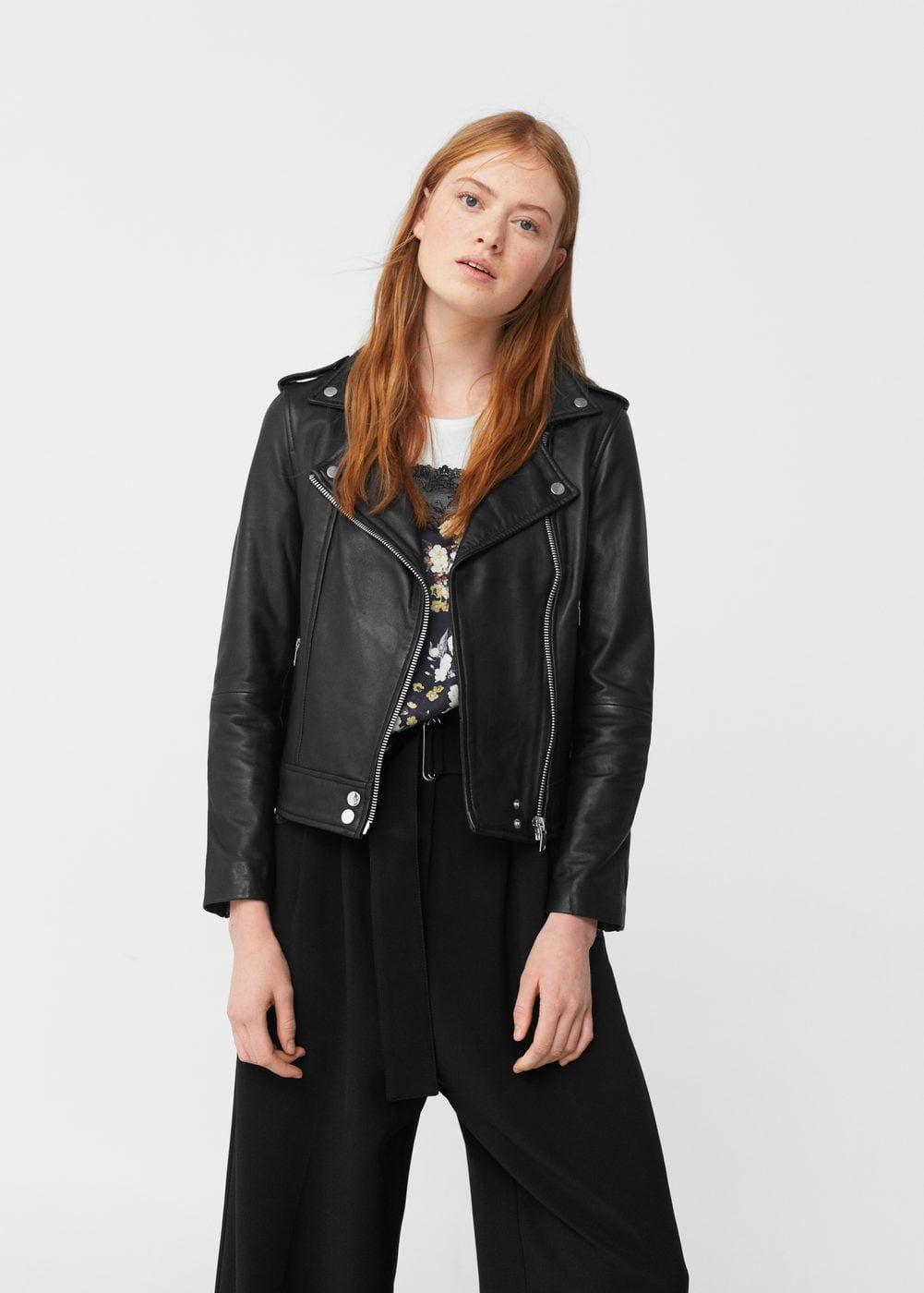 Leather Biker Jacket Women Mango Usa Womens Biker Jacket Biker Jacket Leather Biker Jacket [ 1400 x 1001 Pixel ]