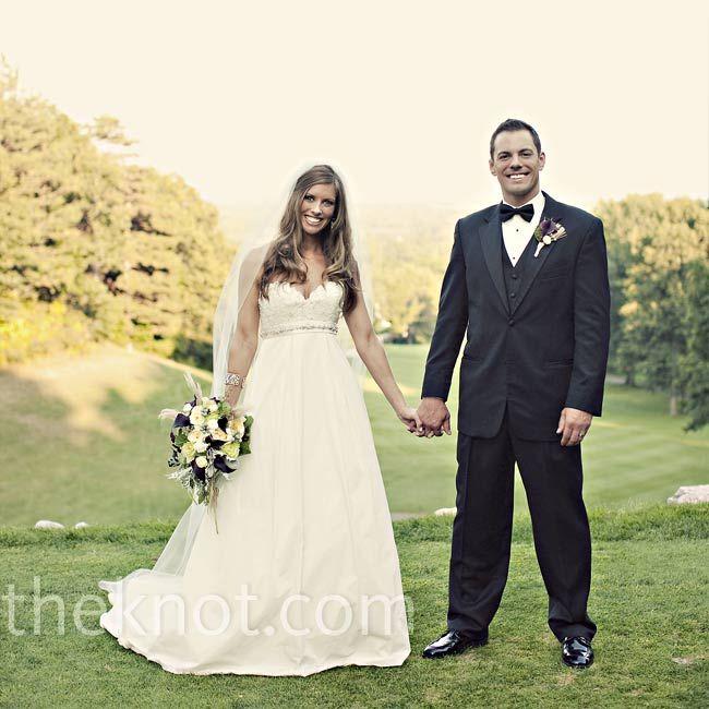 An Outdoor Wedding in Clarkston, MI | Green, Black, White Wedding ...
