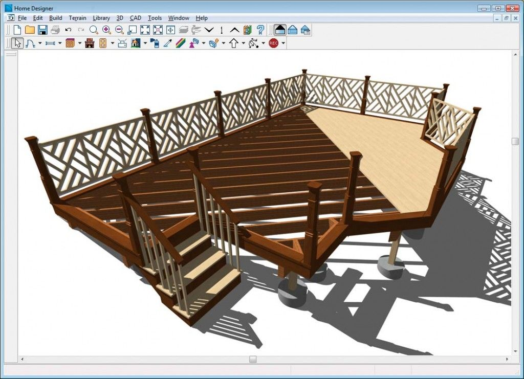 Design your Own Enchanting Deck Simply Using Free Design Software : Home Design And Landscape Software