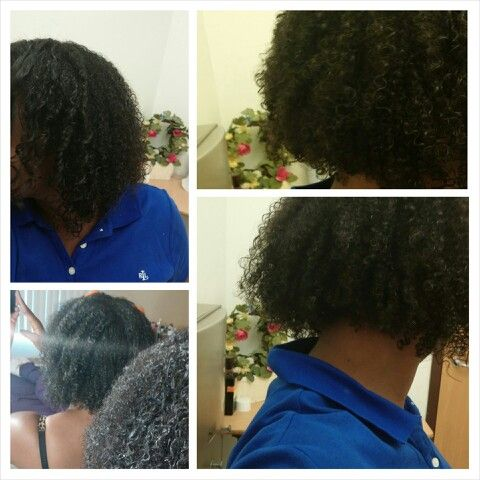 Wash n go with beautiful textures curly pudding and eco styler crystal on top