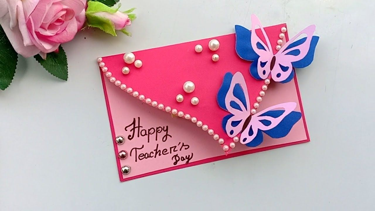Diy Teacher S Day Card Handmade Teachers Day Card Making Idea In 2020 Teachers Diy Happy Teachers Day Card Teachers Day Card