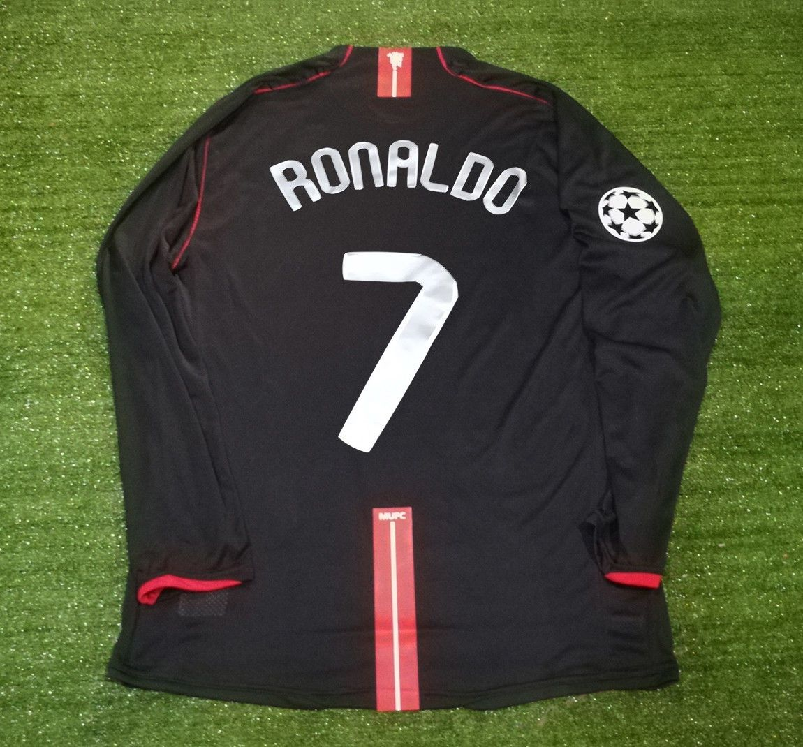 57f8c3d99 Details about Classic Retro Football Shirts RONALDO 7 Manchester United  Away Black 2007-08