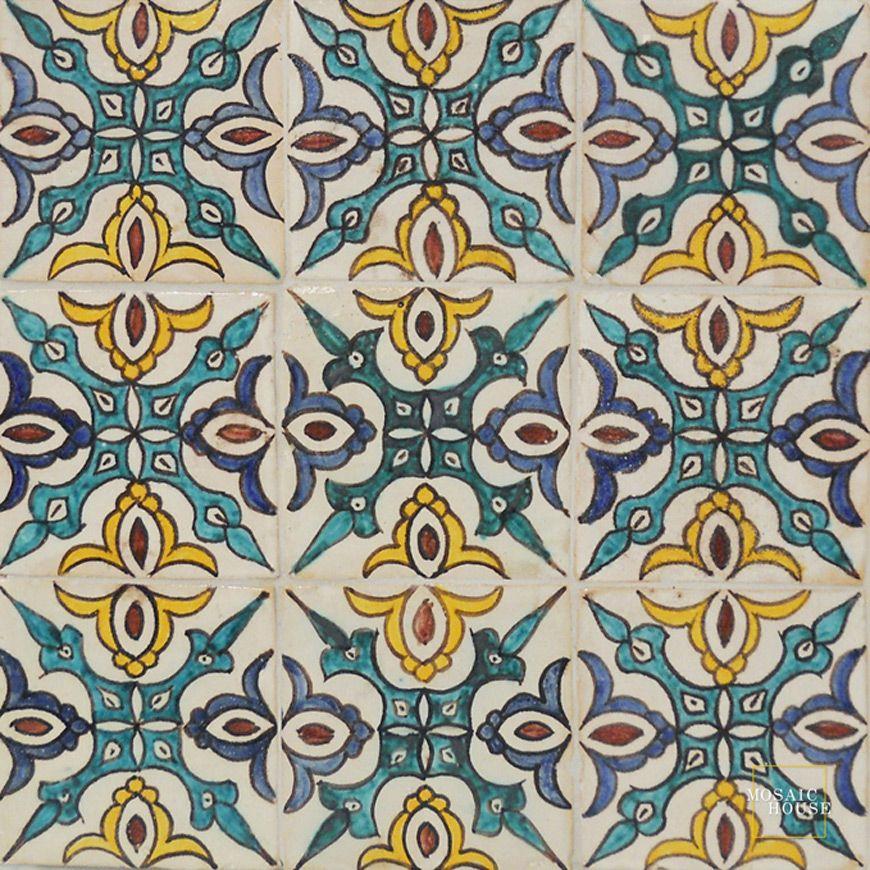 Sonoma Multi Mosaic House Hand Painted Tile Mosaic House Hand