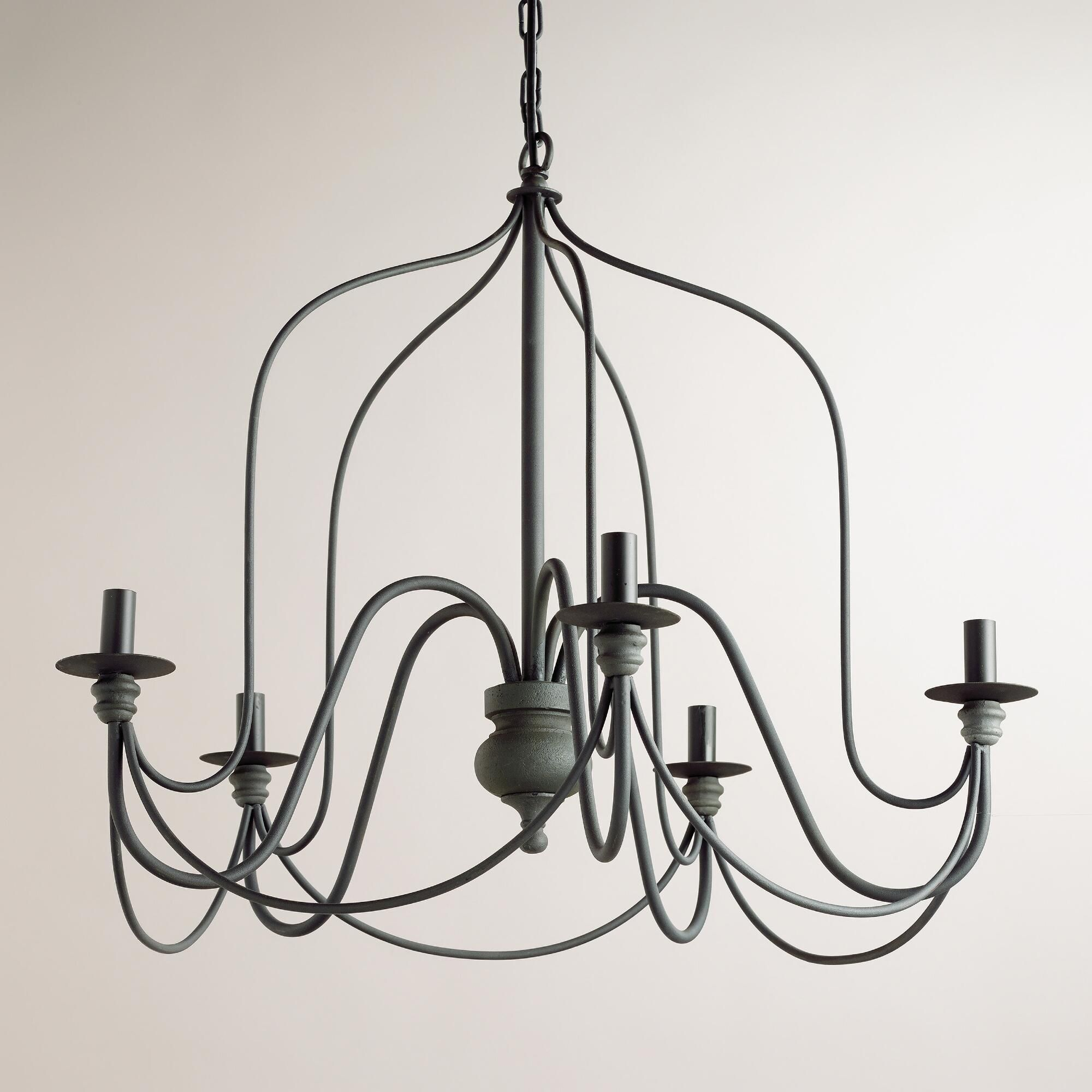 Our exclusive rustic wire chandelier features a slender silhouette our exclusive rustic wire chandelier features a slender silhouette inspired by vintage french chandeliers with arubaitofo Gallery