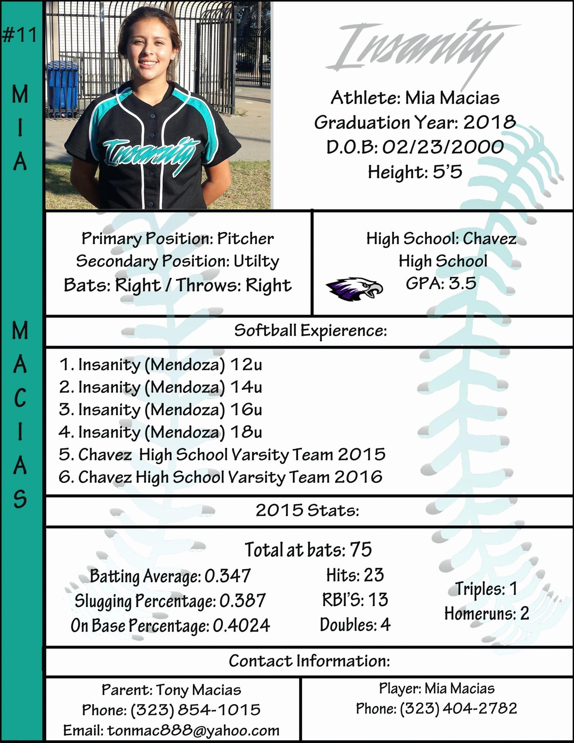 Rn Nurse Resume Template In 2021 Softball Players Nursing Resume Template Softball
