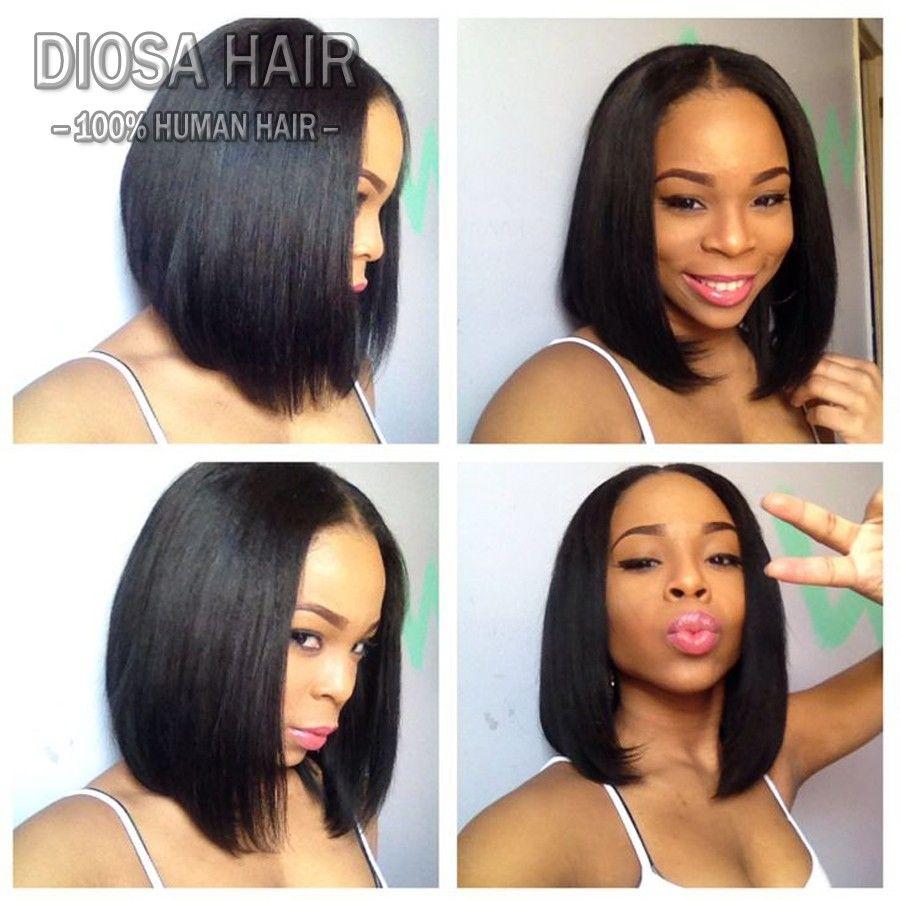 Short Human Hair Wigs Bob U Part Wigs Silky Straight Virgin Brazilian Upart Human Hair Wig Bob U Shaped Wig For Black Women Hair Styles Wig Hairstyles Hair