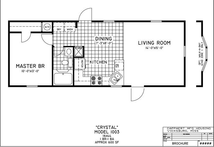 1 Bedroom Mobile Homes Floor Plans Home Interior Design Mobile