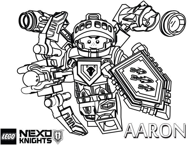LEGO Nexo Knights Coloring Pages  Free Printable LEGO Nexo Knights - new easy lego coloring pages