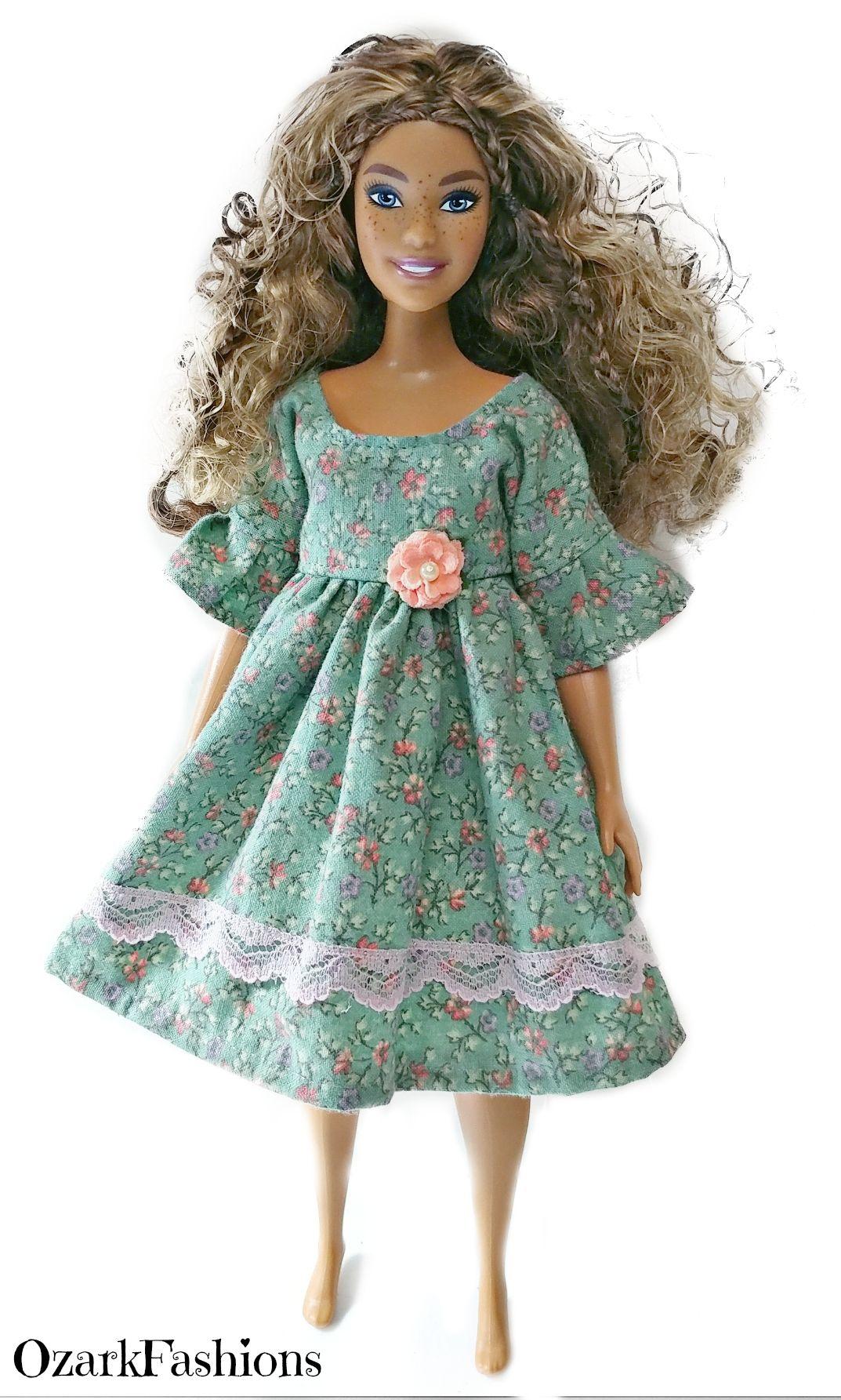 Long Dress made for Curvy Barbie Fashionista Doll Clothes TKCT Dark purple