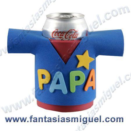 Cubre latas para papa regalos manualidades para el d a - Regalos navidad padres ...