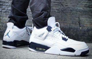 hot sale online 987a0 1957f On Foot Images of the Remastered Air Jordan 4