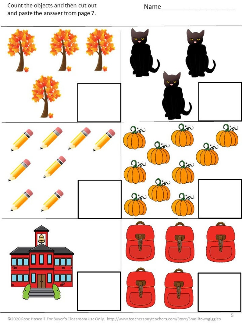 Fall Math Worksheets Digital Download And Print Distance Etsy In 2020 Fall Math Math Worksheets Special Education Curriculum [ 1059 x 794 Pixel ]