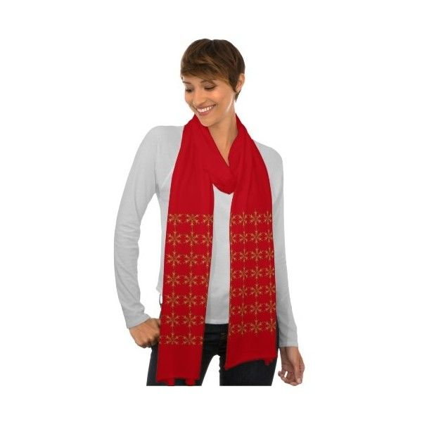 Custom Golden Snowflake Scarf ($23) found on Polyvore