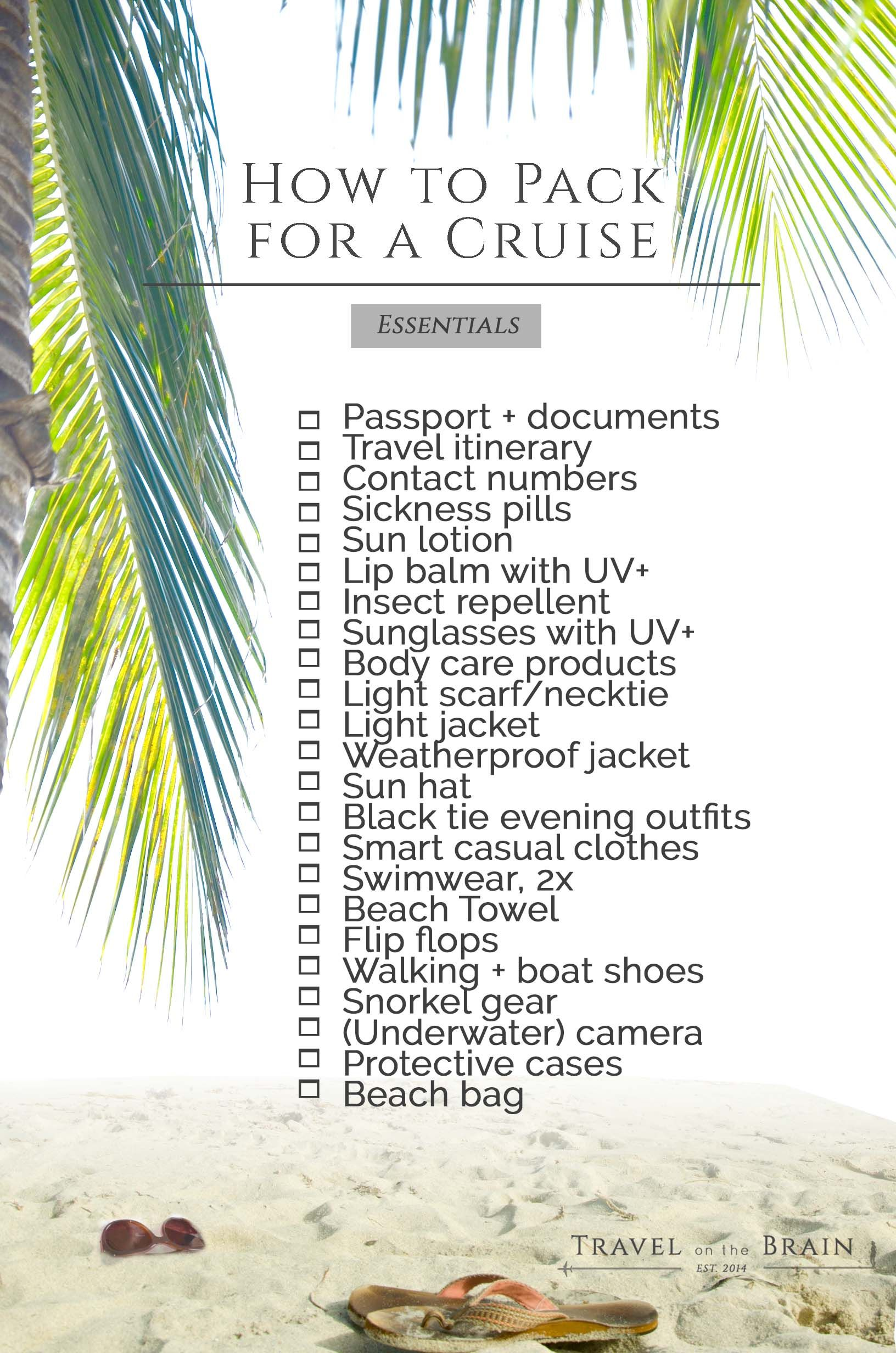 The Ultimate Honeymoon Packing List | Cruises, Cruise vacation and ...
