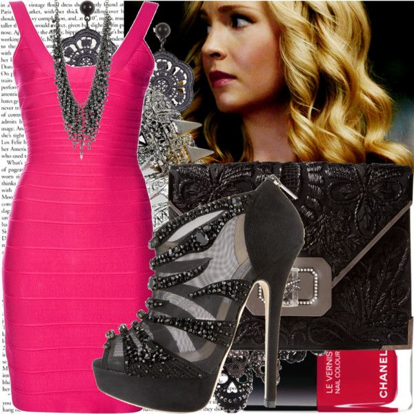 """herve leger dress."" by valerieking ❤ liked on Polyvore"