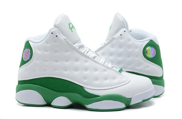 891b9e0ae94dfa 2013 Air Jordan 13 J13 Retro for Men White Green