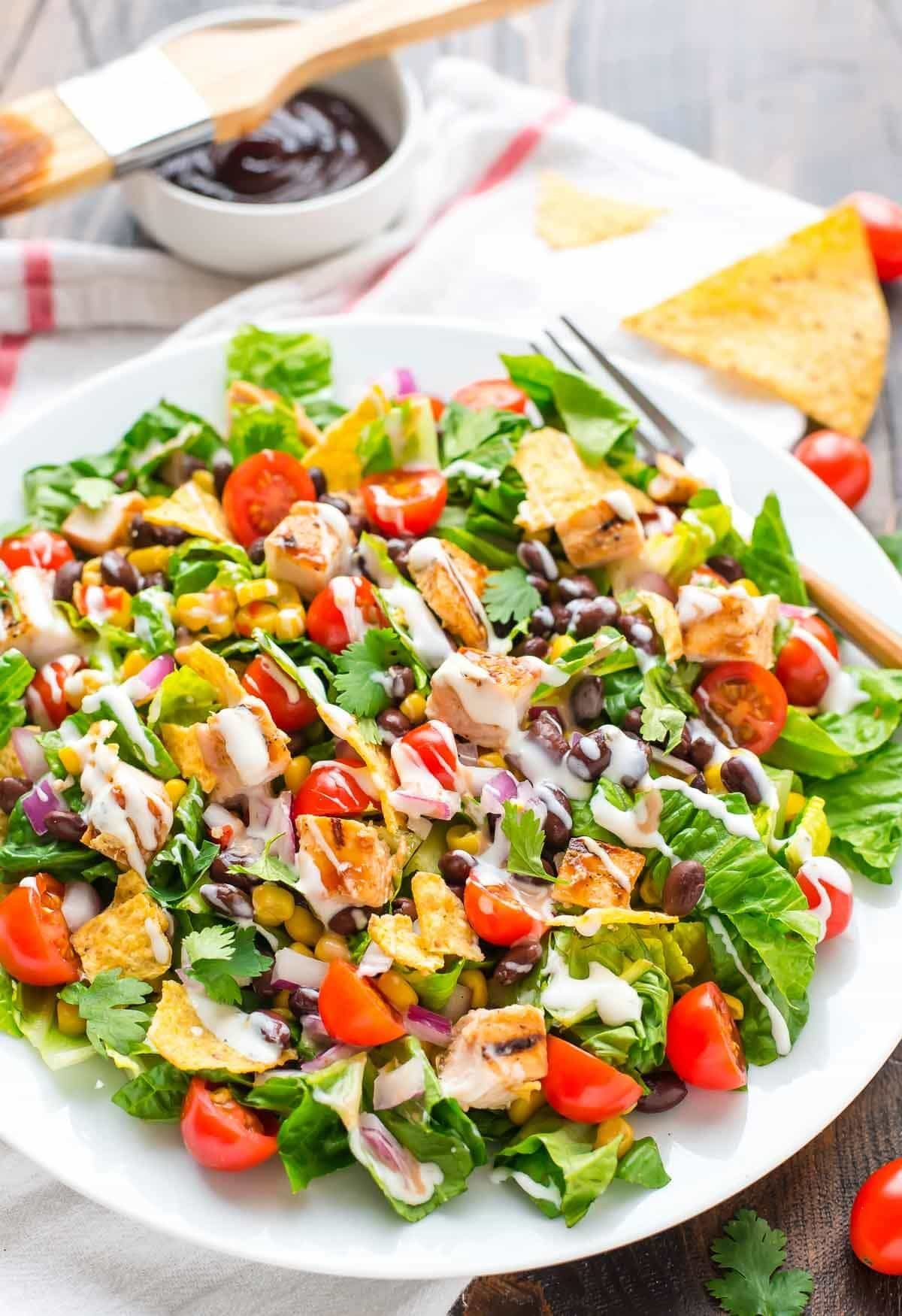 Bbq Chicken Salad Recipe This Healthy Salad Is So Quick
