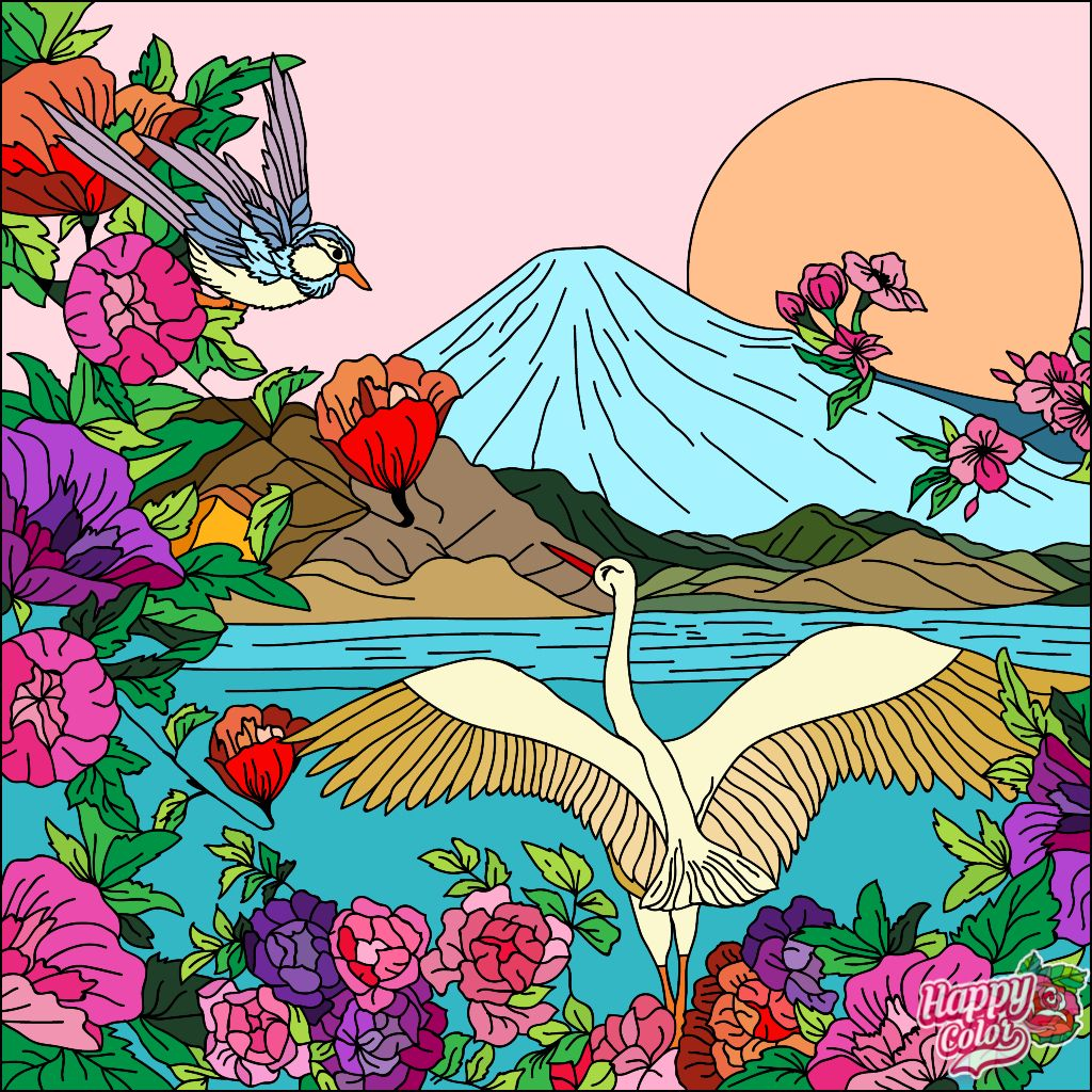 Happycoloringbook Colorful Colors Coloringbook Via Happy Color App For Ipad Happycolorapp Coloring Book App Colorful Art Painting Art Projects
