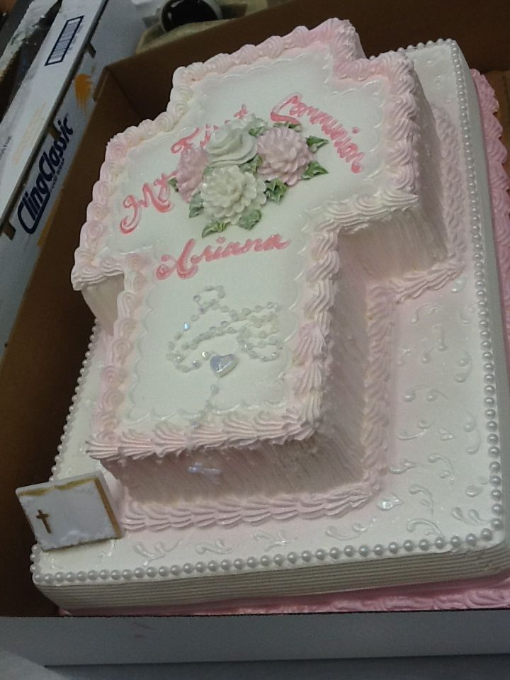 baptism cake ideas calumet bakery cross shaped cake on top of a sheet 1494