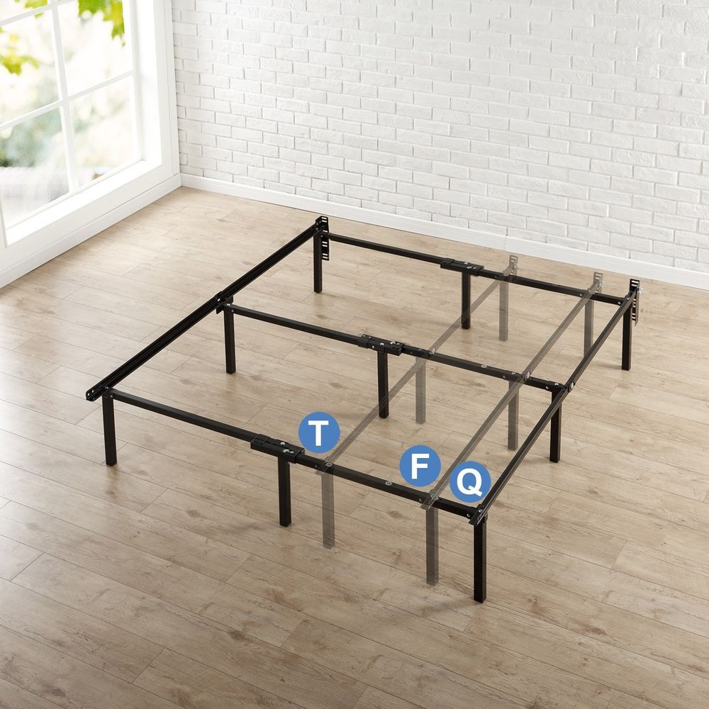 Metal Adjustable Bed Frame 12Inch with Center Support