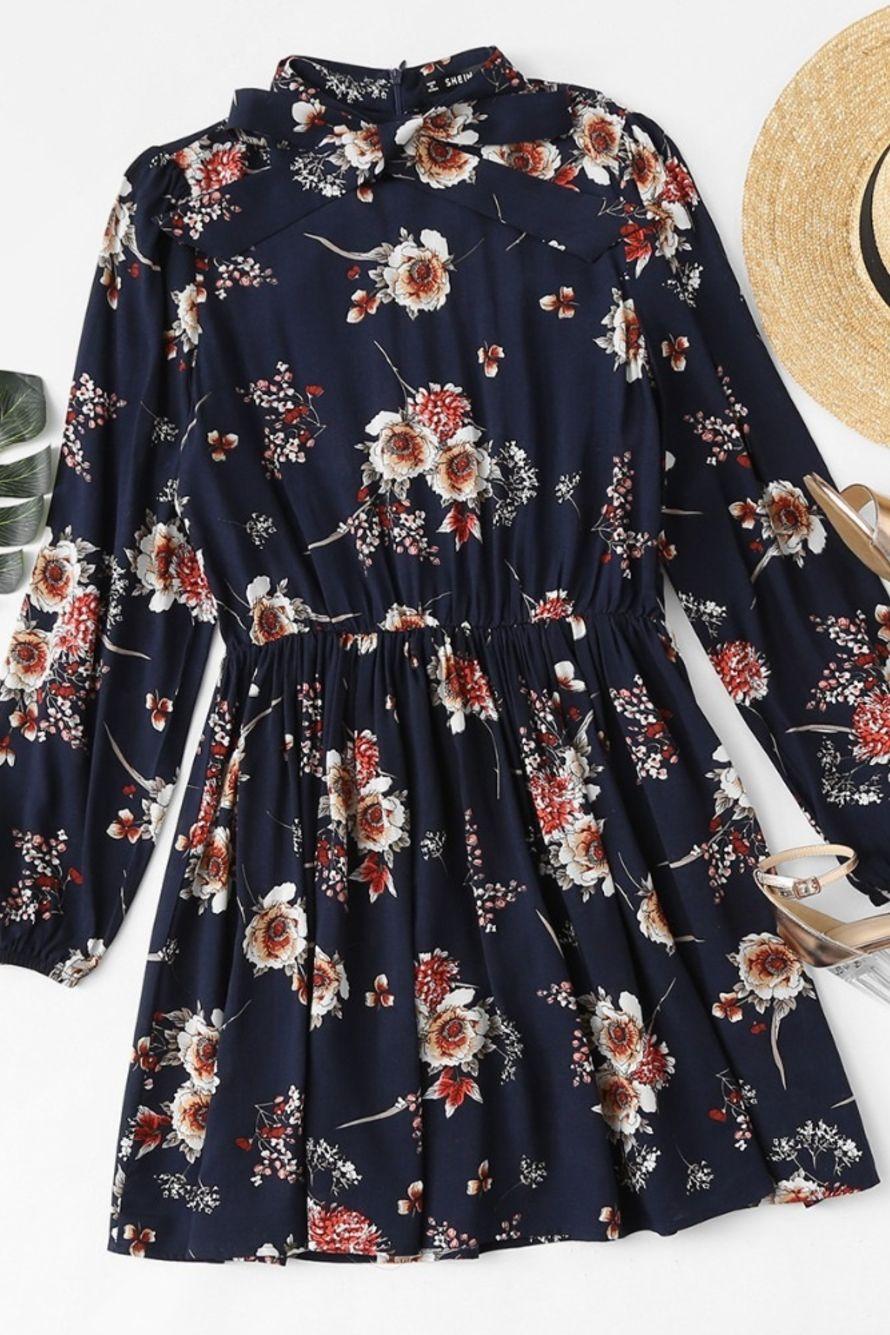 Amara Floral Long Sleeve Dress Elcune Long Dress Outfits Floral Dresses Long Long Sleeve Floral Dress [ 1335 x 890 Pixel ]