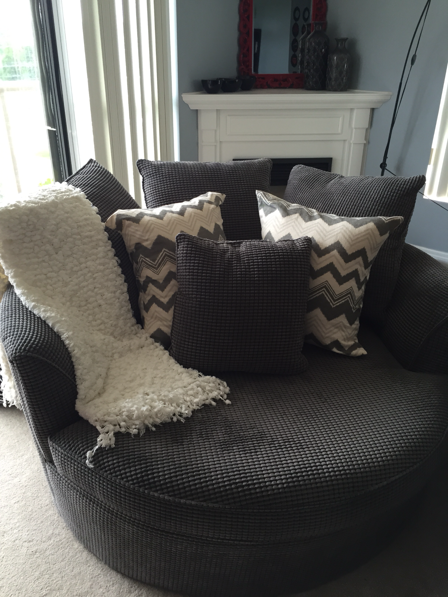 Urban Barn Nest Chair... Love My Pillows From Etsy EastAndNest Store!