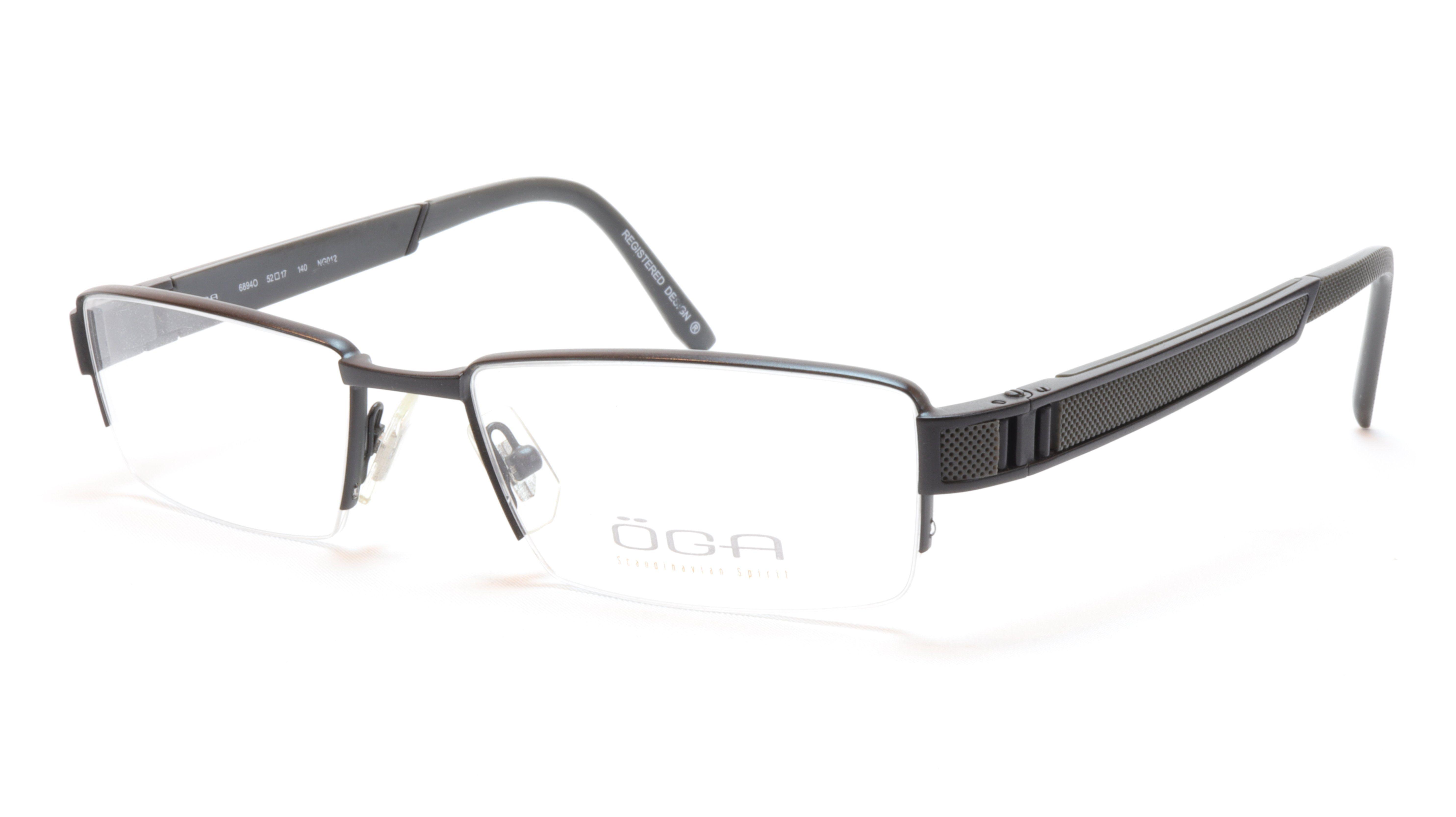 75f58e292b8b OGA Morel Eyeglasses Frame 68940 NG012 Acetate Metal Black France 52-17-140,