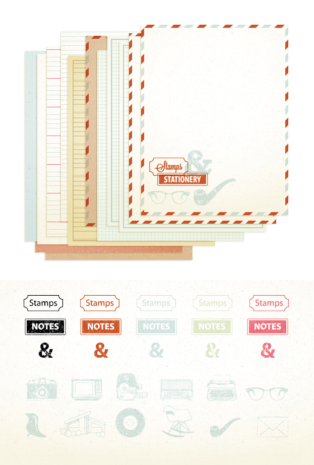 Stamps & Stationery Graphic Styles