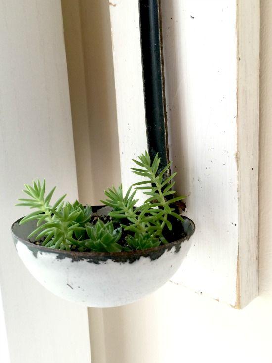 Vintage Ladle Succulent Planter - NV