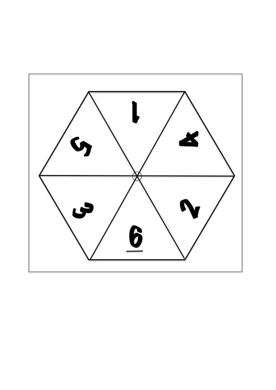 How to make a number spinner 1 to 6 for maths with