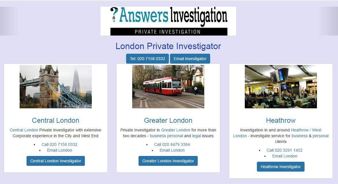 London Private Investigator