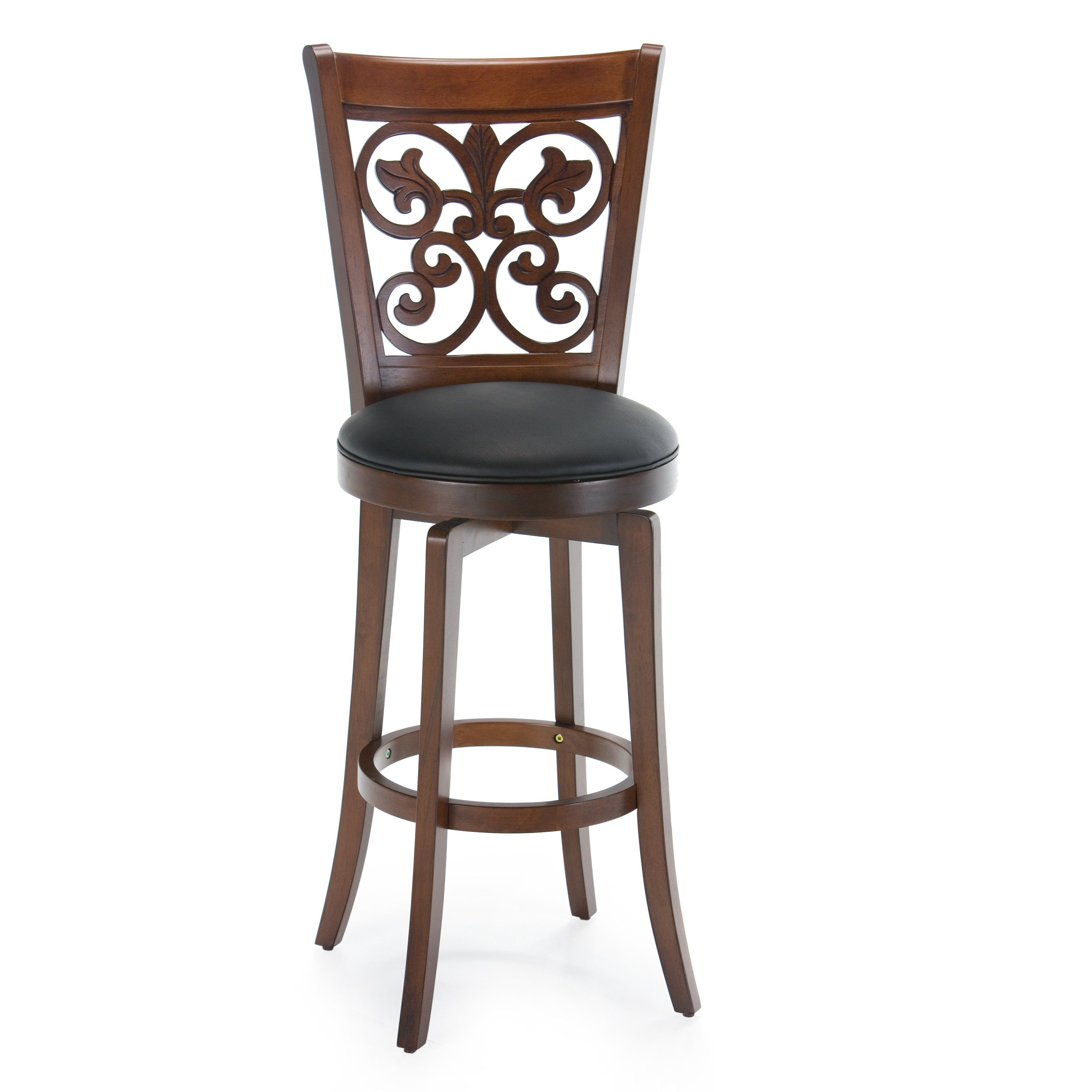 Have To Have It Hillsdale 30 Inch Bonaire Swivel Bar Stool Brown Cherry 139 99 Swivel Bar Stools Bar Stools With Backs Bar Stools