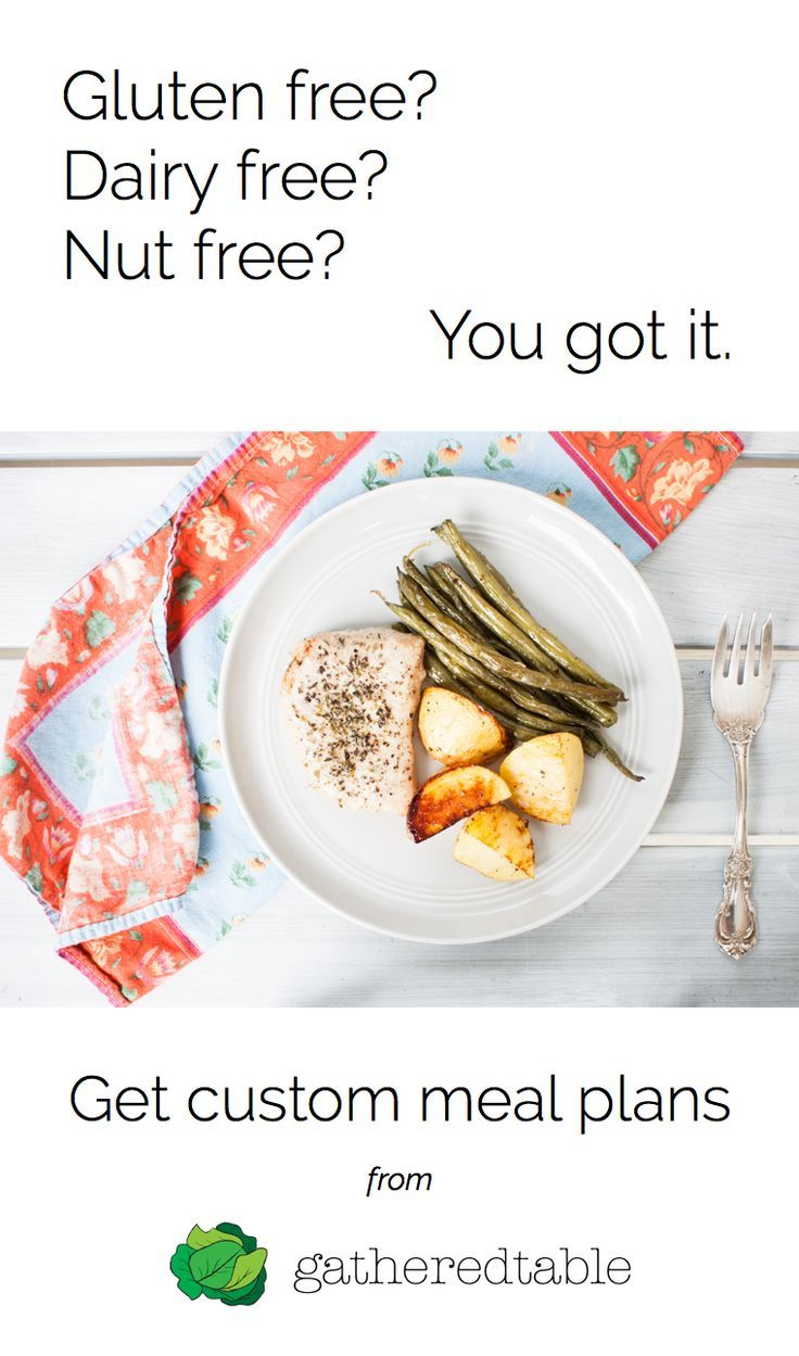 Get custom gluten free meal plan