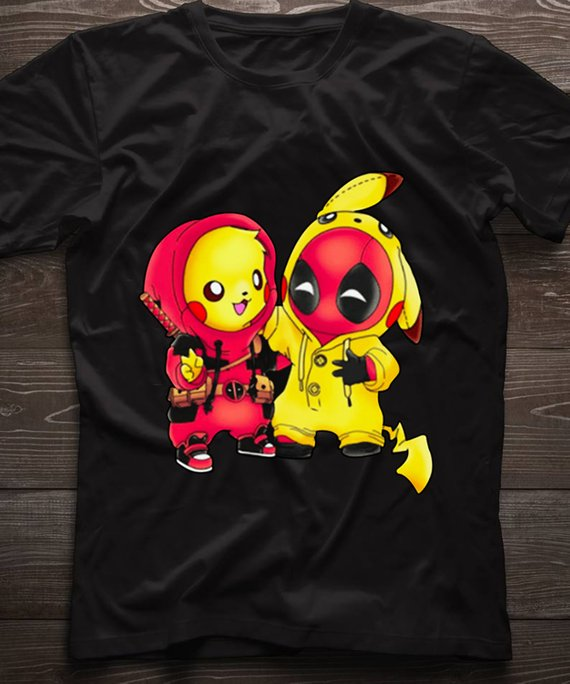 f0f4ba9d pikachu Pokemon and Deadpool Pikapool T-shirt,Pikachu as deadpool, Pikachu  AND, Deadpool shirt, Pika