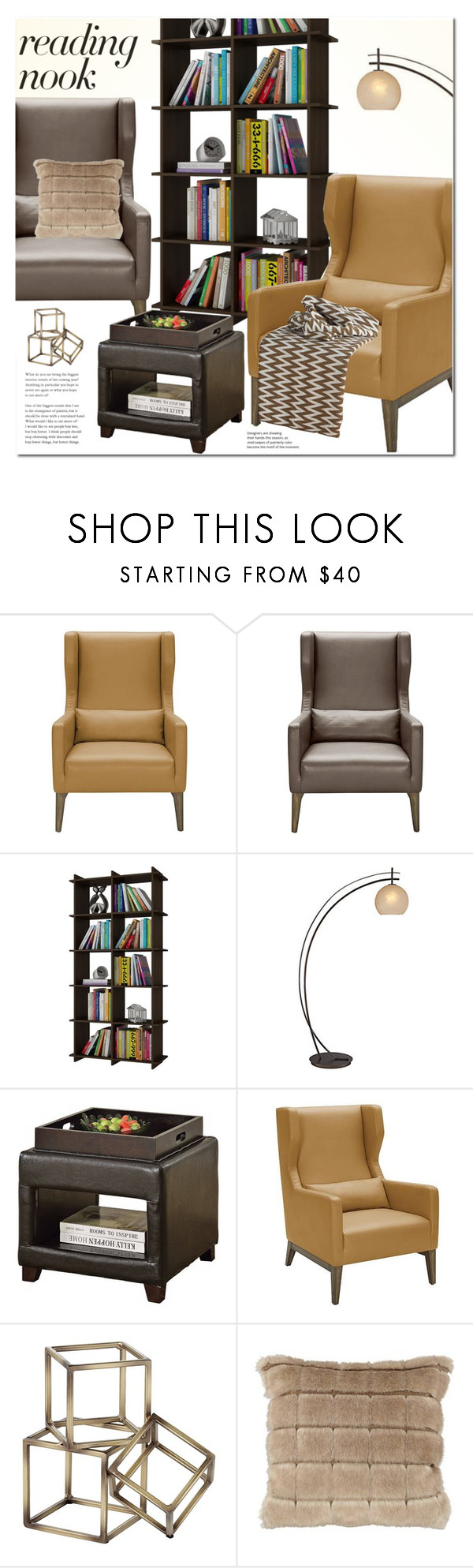 Curl Up: Reading Nook by paculi on Polyvore featuring Possini Euro ...