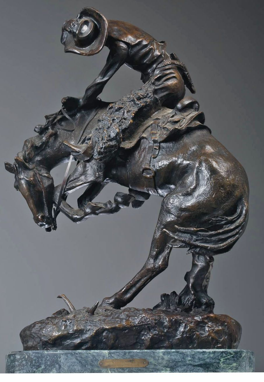 "Frederic Remington ""Rattlesnake"" Bronze Sculpture"