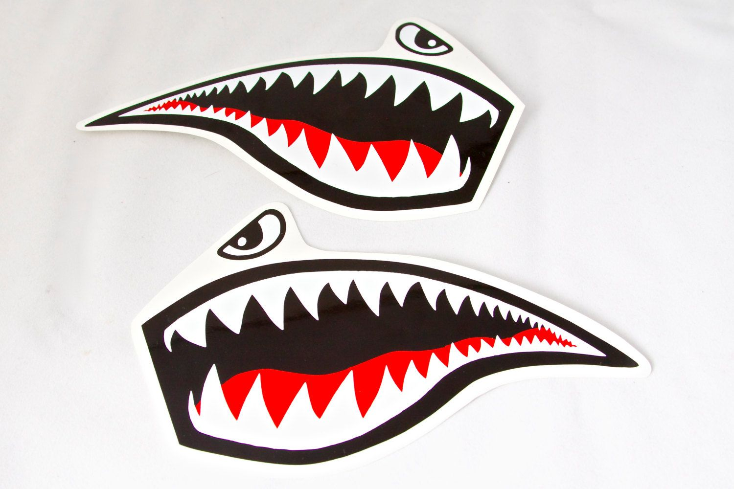 Jet Fighter Tiger Shark Roller Derby Helmet Vinyl Sticker Vinyl - Vinyl stickers for bikes