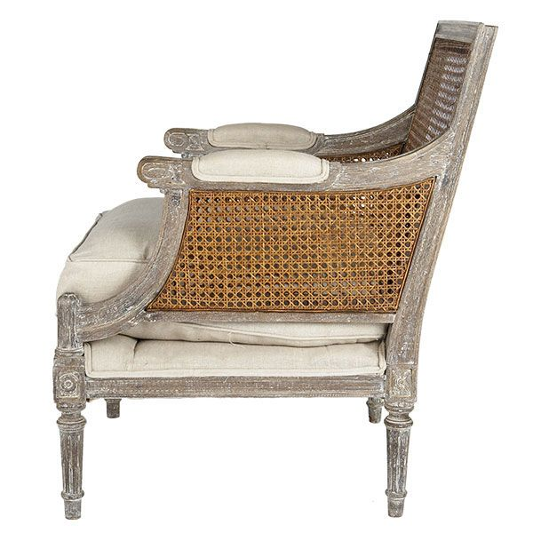 linen and cane back chair for the home cane back chairs house rh pinterest com