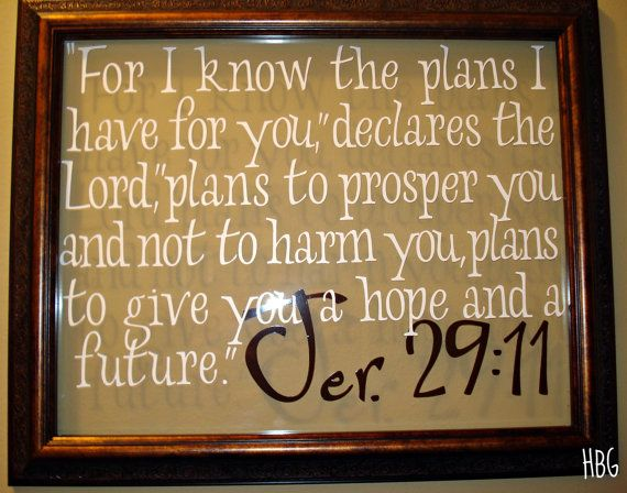 Jeremiah 29 11 Wall Art for i know the plans glass wall art jeremiah 29:11 bible verse