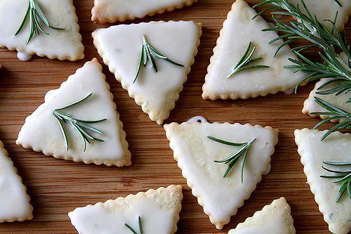 Lemon Rosemary Triangles