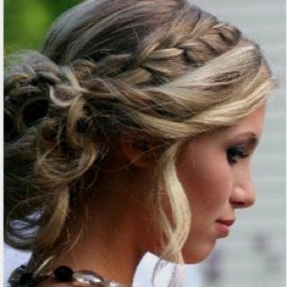 Formal hair. Falling pieces.