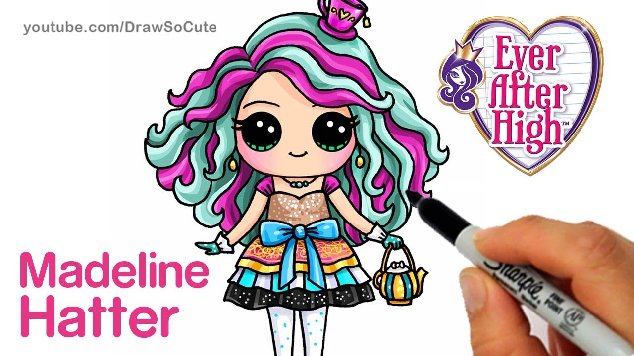 how to draw madeline hatter step by step chibi ever